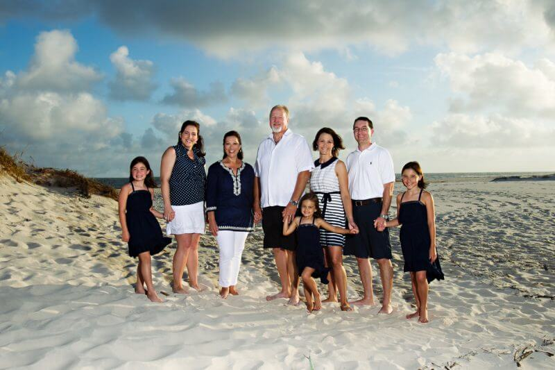 Beach Club Family Portraits in blue
