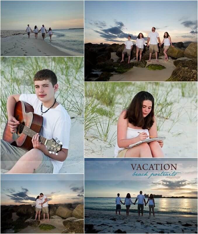 Williams Family Beach Photography © Vacation Beach Portraits