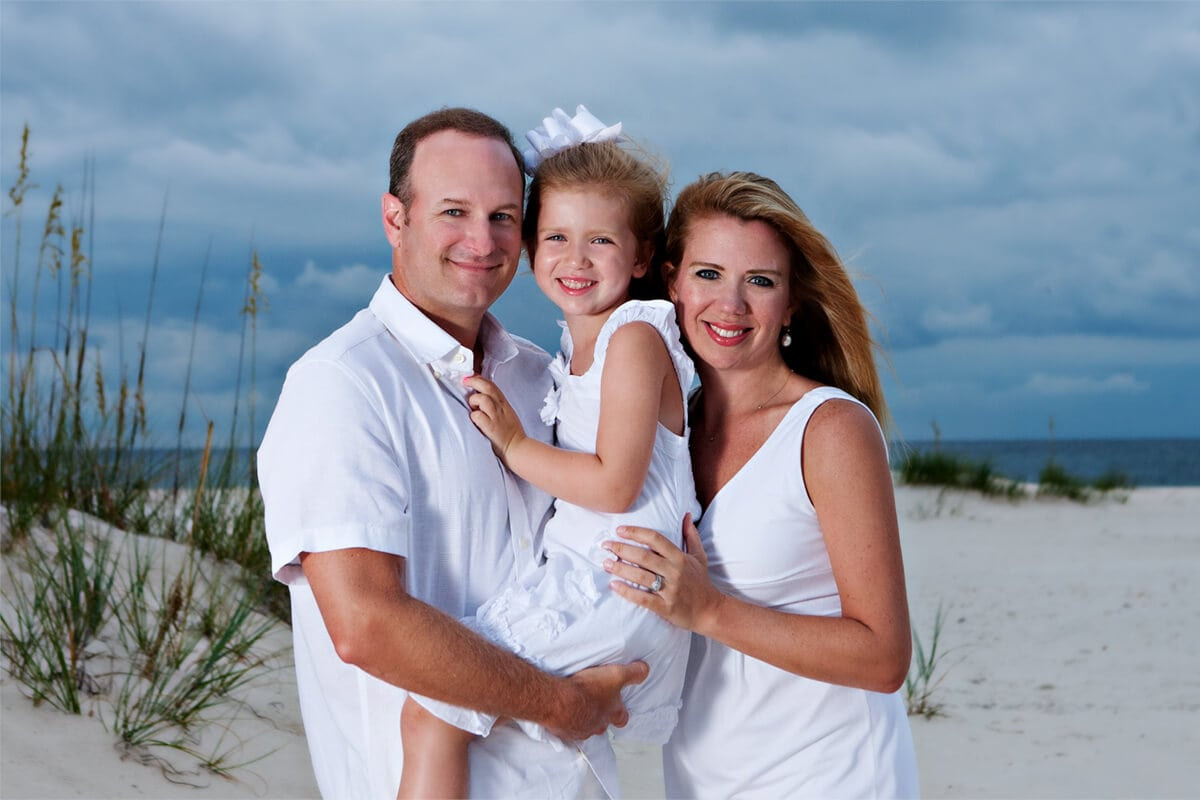gulf shores alabama family photography immediate family of 3