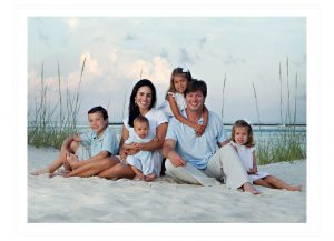 family of 6 beach photography