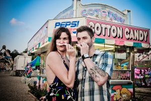 Cute Carnival themed engagement session
