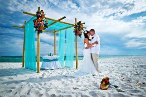 beach wedding passionate i do