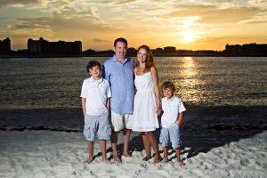 family-sunset-portrait