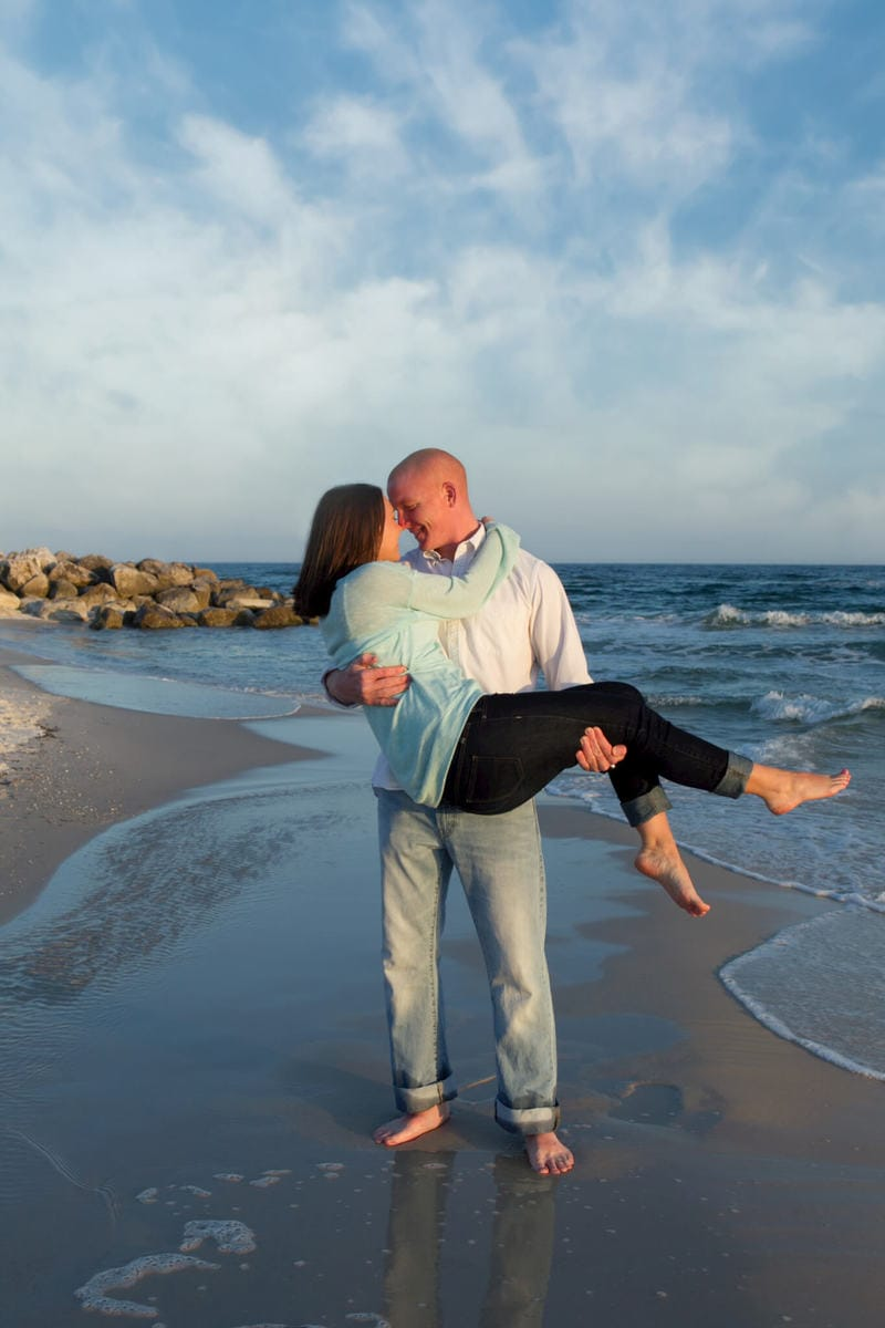 orange beach engagement session parker + bliss