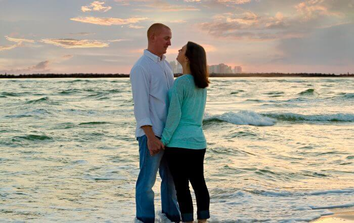orange beach sunset engagement parker + bliss