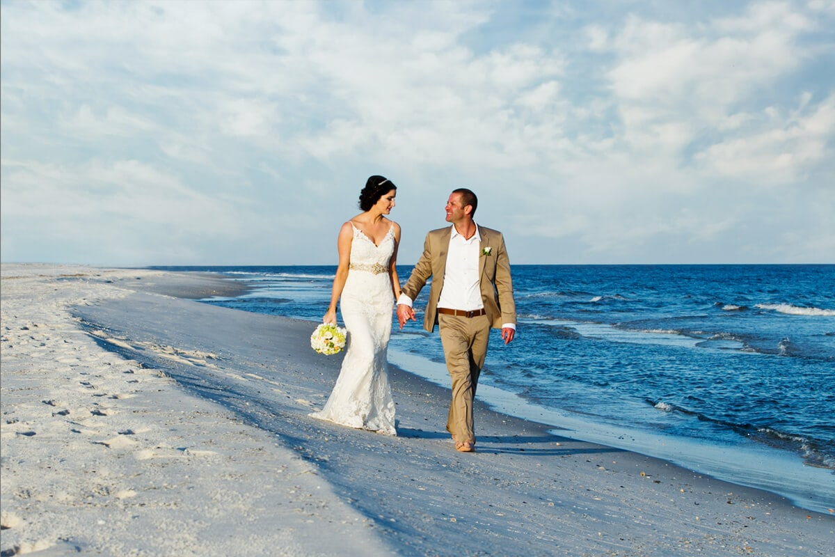 beach wedding portrait 1