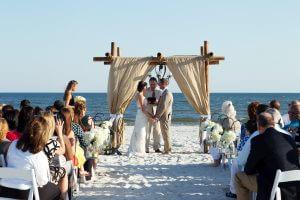 bride and groom ceremony gulf shores al