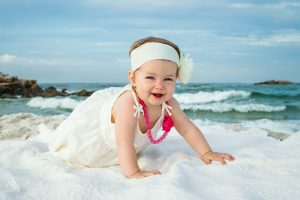childrens photography on the beach