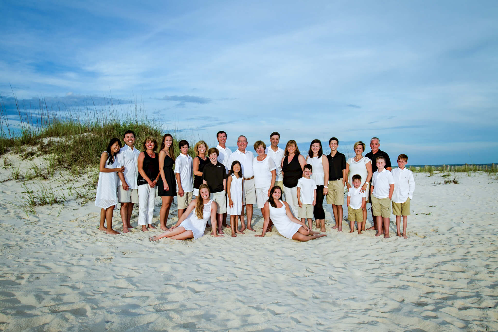 Extended beach family photographer in orange beach alabama