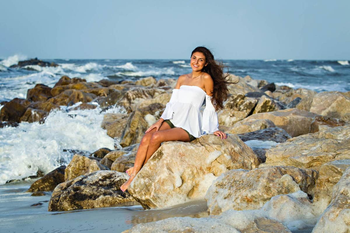senior pictures on the beach in orange beach alabama