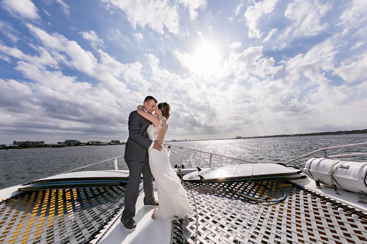 wedding photography on a sailboat